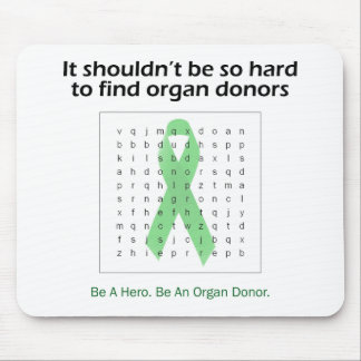 Organ Donors Word Search Mouse Pad