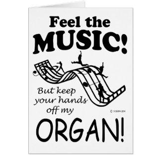 Organ Feel The Music Greeting Card