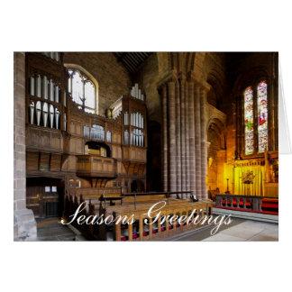 Organ in St John's Church, Chester, England Card