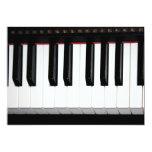 Organ Keyboard 13 Cm X 18 Cm Invitation Card