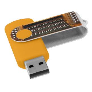 Organ keyboard and stops USB flash drive