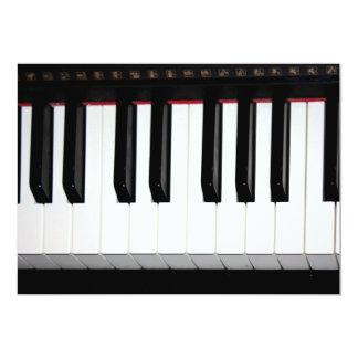 "Organ Keyboard 5"" X 7"" Invitation Card"
