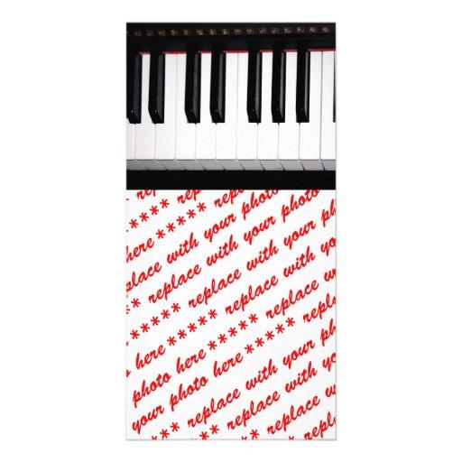 Organ Keyboard Photo Card Template