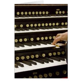 Organ manuals card