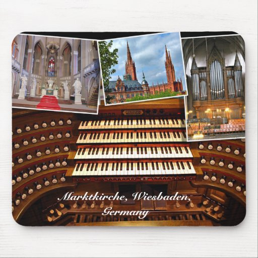 Organ montage, Wiesbaden, Germany Mouse Pads