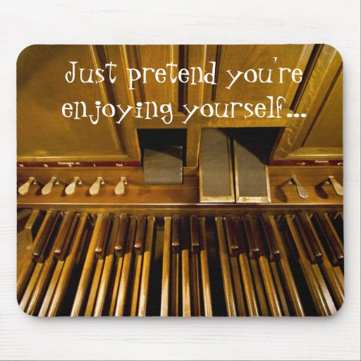 Organ pedals mousepad for organists