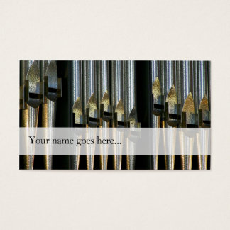 Organ pipes business card - silver pipes