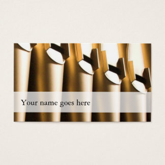 Organ pipes business cards - golden