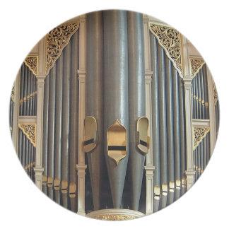 Organ pipes plate - Sydney Town Hall organ