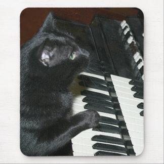 Organ playing cat mouse mat