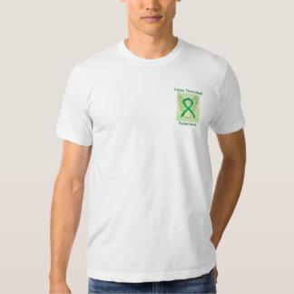 Organ Transplant Awareness Green Ribbon Angel Tee