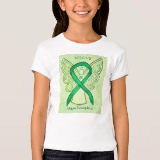 Organ Transplants Green Awareness Ribbon Shirt