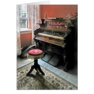Organ With Petit Point Stool Greeting Card