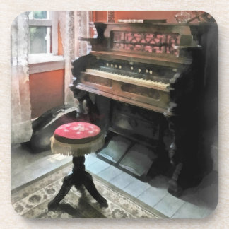 Organ With Petit Point Stool Drink Coasters
