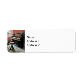 Organ With Petit Point Stool Return Address Label
