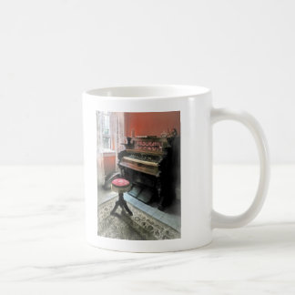 Organ With Petit Point Stool Classic White Coffee Mug