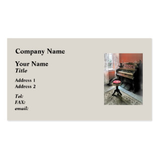 Organ With Petit Point Stool Pack Of Standard Business Cards