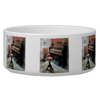Organ With Petit Point Stool Pet Bowls