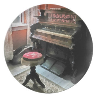 Organ With Petit Point Stool Party Plate
