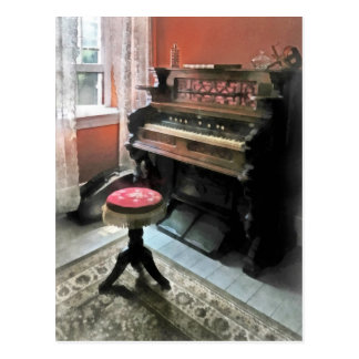 Organ With Petit Point Stool Postcard