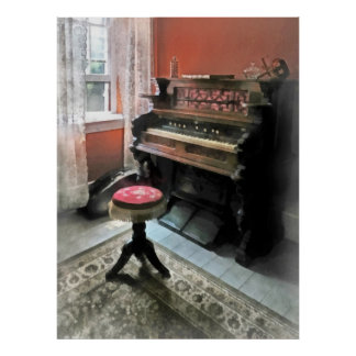 Organ With Petit Point Stool Posters