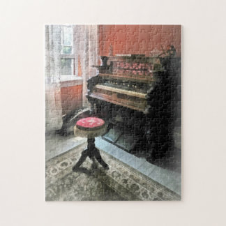 Organ With Petit Point Stool Jigsaw Puzzle