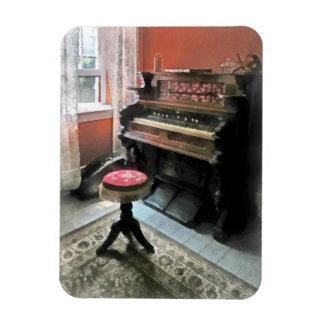Organ With Petit Point Stool Rectangular Photo Magnet