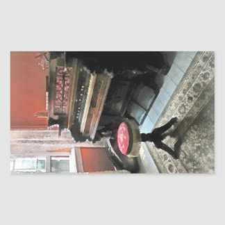 Organ With Petit Point Stool Rectangular Sticker