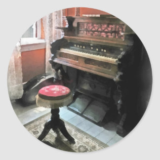 Organ With Petit Point Stool Round Sticker