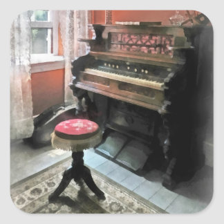 Organ With Petit Point Stool Square Sticker