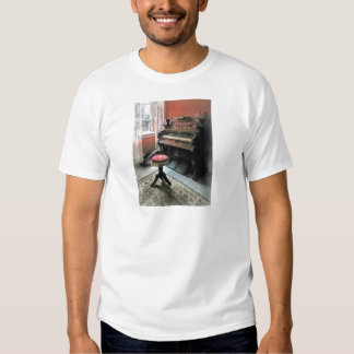 Organ With Petit Point Stool Tee Shirts