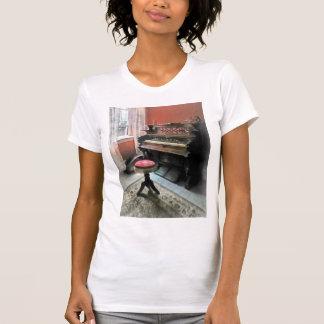 Organ With Petit Point Stool T-shirt