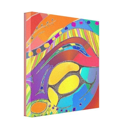 Organic Abstract Art Canvas mid depth