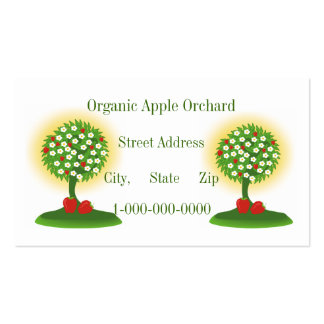 Organic Apple Orchard Business Card Templates
