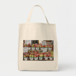 Organic Apple Tote Grocery Tote Bag