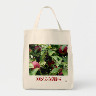 Organic Apples Grocery Tote Bag