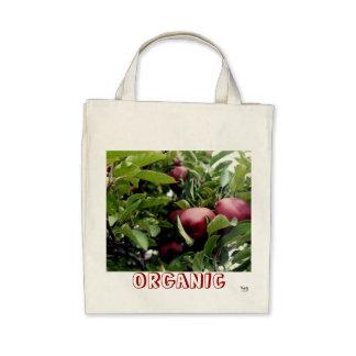 Organic Apples Grocery Tote Bag