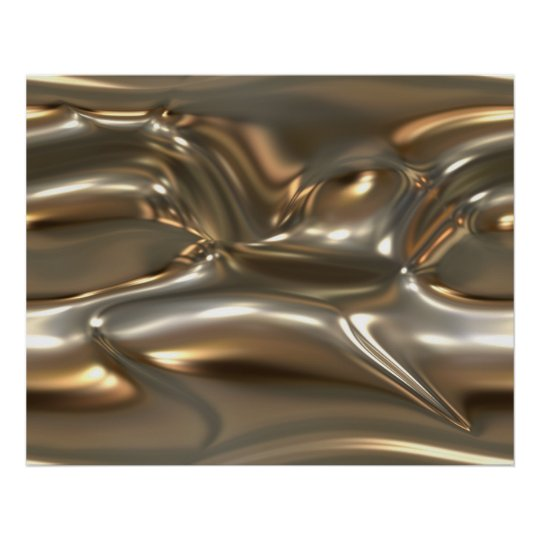 Organic Art Molten Metal Sheet Gold And Silver