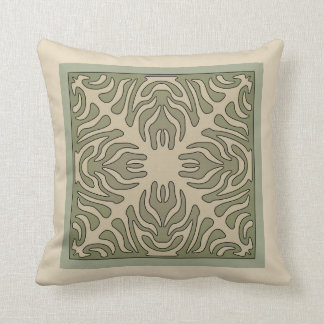 Organic Arts & Crafts Outlined Design Variation 1 Cushion