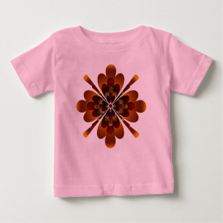 Organic Baby Outfit, Zen Flower, Orange Red Yellow Infant T-Shirt