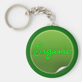organic basic round button key ring
