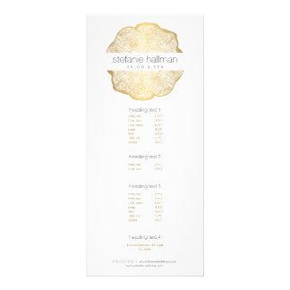 Organic Beauty Gold Tree Rings Salon Rack Card Design