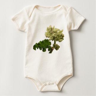 "Organic bodystocking for baby ""the Beautiful Fleur Baby Bodysuit"