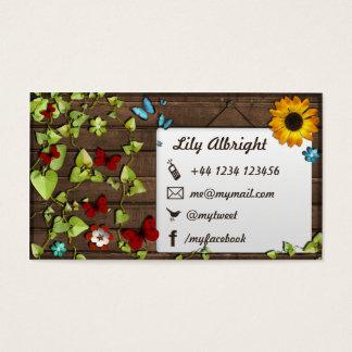 Organic Business Card Social Media Icons