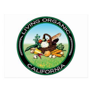 Organic California Postcard
