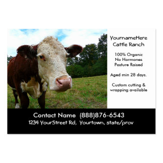 Organic Cattle Beef Ranch or Butcher Business Card