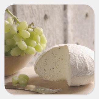 organic cheese on board square sticker