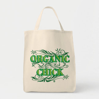Organic Chick Grocery Tote Bag