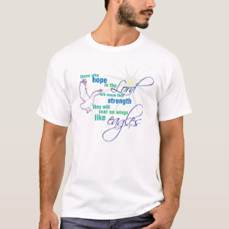 Organic Christian t-shirt: Soar on Wings T-Shirt
