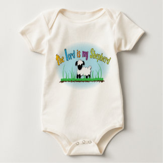 Organic Christian vest - The Lord is my Shepherd Baby Bodysuit